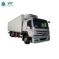 Buy cheap Refrigerated Box Container Heavy Cargo Truck 6x4 Diesel Fuel Type Maximum Speed 96km/H from wholesalers