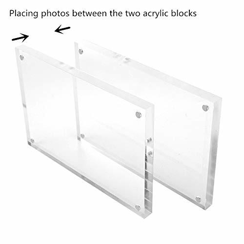 Quality Wall Mouted 5x7 Acrylic Magnetic Frames Detachable For Christmas Gifts for sale