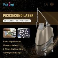 China Optional 650 580 755 Picosecond Nd Yag Laser Enlighten Pico Laser For Tattoo Removal wholesale