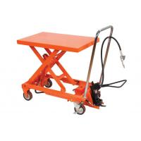 China Manual Operating Pneumatic Lift Table Cart Small Scissor For Hospital wholesale