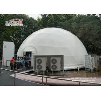 Buy cheap 14m diameter Garden Steel Geodesic Dome Tents / Metal Geodesic Dome Greenhouse from wholesalers