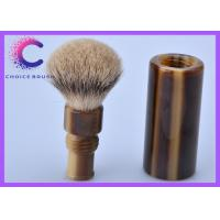 China Men's facial care silvertip badger shaving brush set with faux horn Handle OEM wholesale