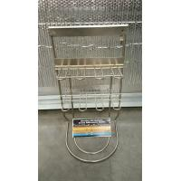 China 2 Layer 9'' * 19'' * 8'' Steel Wire Display Rack 8 Hooks For Battery Advertising on sale