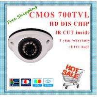 China 700TVL CMOS camera with IR-CUT weatherproof Dome security surveillance Camera 12 IR fixed lens outdoor CCTV Camera wholesale