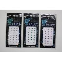 China Custom Green; Prink; White color rhinestone stickers labels jewelry for mobile phones, Com on sale