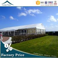 Quality Universal Glass Wall Tent Clear Span Tents for Events with Furniture/Floor for sale