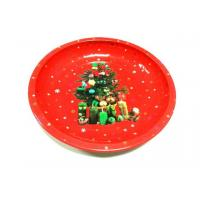 China Metal Tin Plate Restaurant Circle Serving Trays For Cookie / Candy wholesale