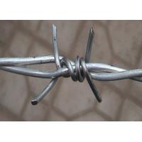 China Double Twisted Barbed Iron Wire Wrapped For Security Fence , 1.6mm- 3.0mm Dia wholesale