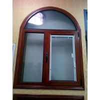 China Wooden Grain Painted Aluminium Commercial Windows Tilt Turn Louver Window Design on sale