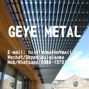 China Press Locked Aluminium Bar Grate Louvered Type, Sunshade Aluminum Louver Grating Sunscreen wholesale