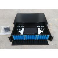 China Metal Drawer Typefiber Optic Terminal Box 36/48  Port  Fiber Optic Patch Box wholesale