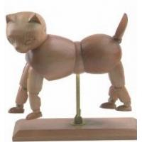 China Vivid Craft Artist Wooden Manikin Dog / Cat Mannequin Good Design wholesale