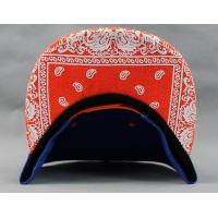 Quality Orange Amoeba Pattern Hip Hop Baseball Caps Adjustable with Plastic Snap for sale