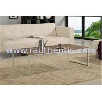 China Contemporary Walnut Coffee Table , Metal And Wood Coffee Table Set With Metal Leg wholesale
