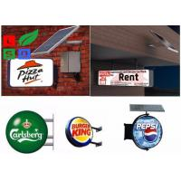 Buy cheap Aluminum Frame Solar Powered Signs Long Life Span Vacuum Form LED Light Box from wholesalers
