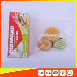 China Airtight Plastic Zipper Sandwich Bags , Zip Lock Reusable Food Storage Bags wholesale