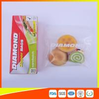 China Waterproof Reusable Zipper Snack Bags / Zip Top Plastic Bags For Cookie And Cake wholesale