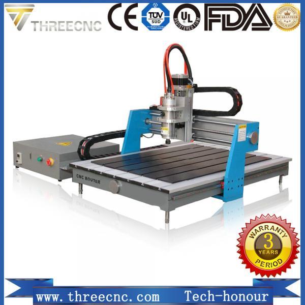 Quality China Advertising cnc router 6090 / mini wood design cutting machine for PCB /PVC/ Aluminum/Copper TMG6090-THREECNC for sale