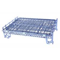 China Multi Purpose Collapsible Metal Mesh Cage , Robust Metal Storage Cage On Wheels on sale