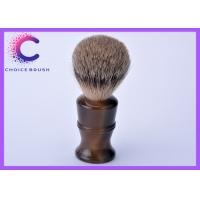 Quality Long handle best badger hair shaving brush with classical faux horn color handle for sale
