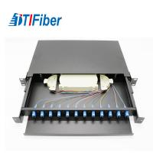 China Light Structure Fiber Optic Connection Box , Fiber Optic Patch Box 12 Cores 1U wholesale