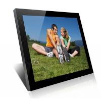 China Acrylic 19 Inch High Resolution Digital Picture Frame With Clock And Calendar wholesale
