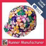 China Sample Free Floral Print Snapback Cap wholesale