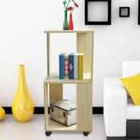 China Movable Home Office Wooden Book Rack Maple With Two Layer Storage Space wholesale