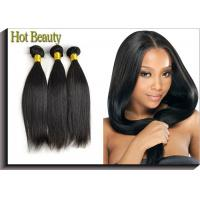 Natural Black Remy Virgin Human Hair Extensions Straight Type