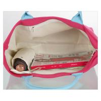 Quality Lightweight Tote Shopper Bag / Cloth Shopping Bags Three Small Pockets Inside for sale