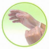 China Disposable Vinyl Examination Gloves, Comply with FDA and EN455 Standards wholesale