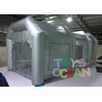 Quality 6x3x3m Advertising Inflatables Spray Booth Grey Color For Car Painting Use for sale