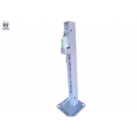 China Hand Sanitizer Dispenser Floor Stand Touch Free With Silver Square Base wholesale