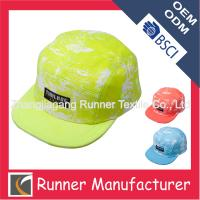 China Bright Color Blank snapback cap hat on sale