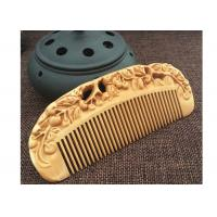 China Anti static Creative Wooden Crafted Gifts Double sided Carved wooded Comb on sale