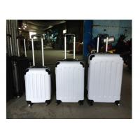 4 Airplane Wheel ABS Carry On Trolley Luggage Aluminum With Expandable Zippers