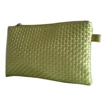 China Gold Woven Veins Leatheroid Wallet Bag, Fabric Carrier Bags With Leather Loop wholesale