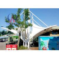 China Metal Structured Tensile Membrane Structure For Theme Park , Membrane Covered Shade Roofing wholesale