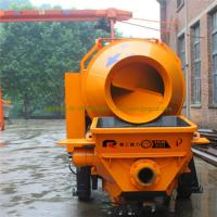 China 25-30m3/h truck-mounted concrete mixer pump remote control motor concrete mixing wholesale