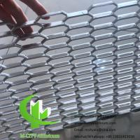 Quality Metal Aluminum expanded mesh screen for facade both powder coated for sale