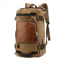 China Black Teenagers Canvas 40l Travel Backpack Vintage Style , Waterproof Travel Bag wholesale