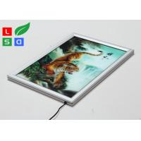 China Super Thin LED Light Box Frame , 20mm Width Customisable Light Box For Wall Poster Display wholesale