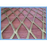 China Perforated Aluminium Expanded Metal Mesh Screen Anodized Finish Surface Decorative wholesale