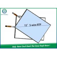 Wholesale ODM / OEM 5 Wire Resistive Single Touch Panel 15 Inches ITO Glass And ITO Film from china suppliers
