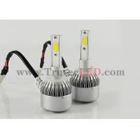 China 12V - 24V COB LED Headlight 30W H7 - 4000 Lumen Waterproof Super bright wholesale