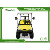 China Excar Golf Buggy Electric 2 Seater Yellow And Black ISO/CE Approved wholesale
