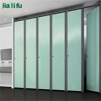 Stainless steel primary school washroom bathroom cubicle for Stainless steel bathroom partitions