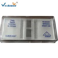 China Ultra Clear Glass Cell Counting Chamber Neubauer Counting Chamber Without Bright Line wholesale