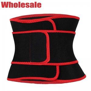 China Double Velcro Waist Trimmer Belt Workout Waist Trainer Sweat Belt wholesale