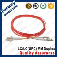 China lc-lc/upc optic fiber patch cords for structure cabling to patch panel ST SC FC LC gray connectors OM1 Duplex wholesale